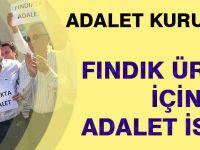 Adalet Kurultay'ında Fındık Üreticisi İçin Adalet İstemi