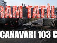Bayram Tatilinde Trafik Kazaları 103 Can Aldı